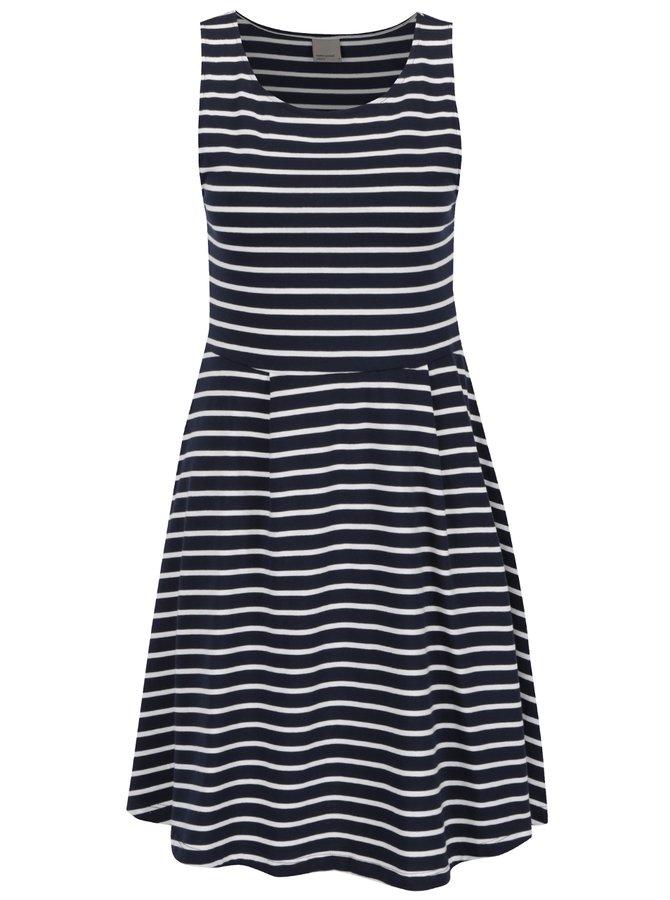Bílo-modré pruhované šaty VERO MODA Oslo