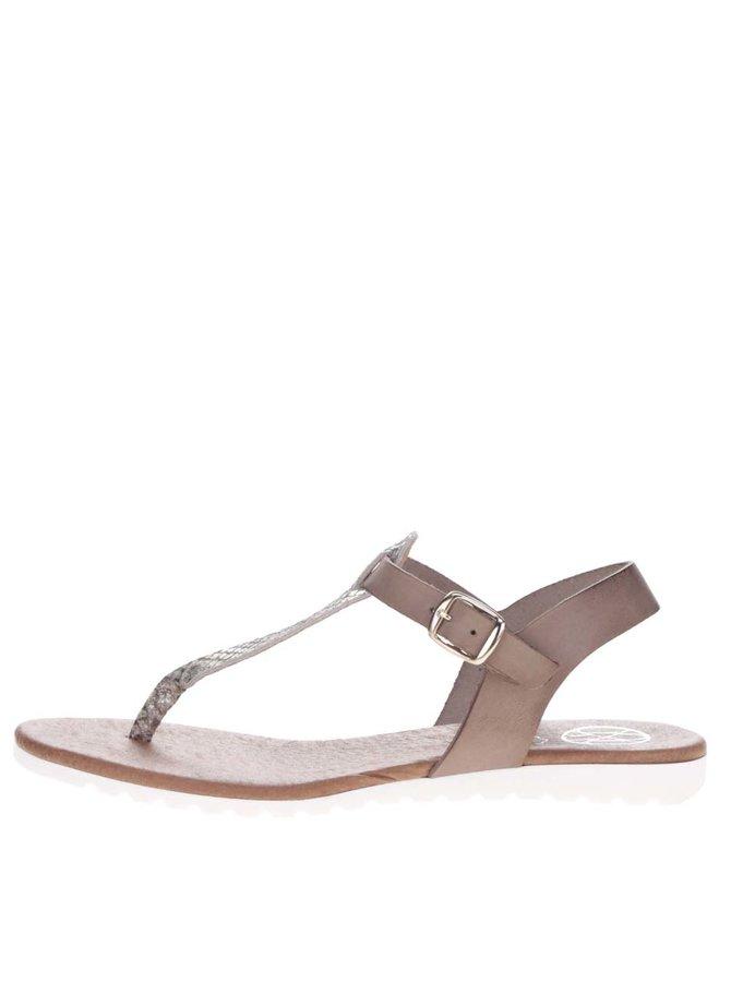 Sandale gri OJJU din piele