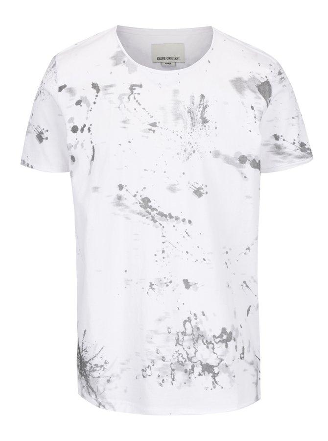 Tricou alb Shine Original cu imprimeu stilizat