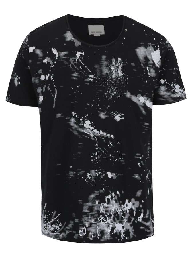Černé vzorované triko Shine Original