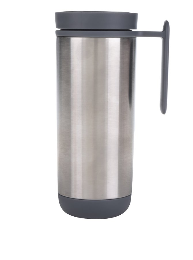 Termohrnek ve stříbrné barvě XD Design Click 225 ml