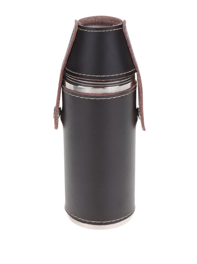 Láhev na pití v koženém pouzdře Kikkerland