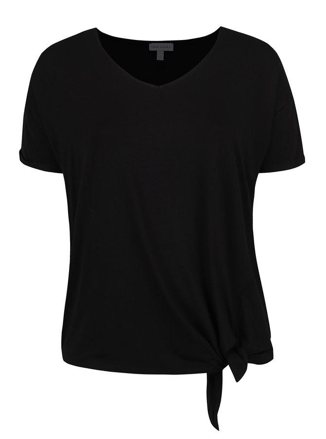 Černé tričko s krátkým rukávem Gina Laura