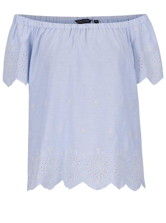 Světle modrá dámská halenka Dorothy Perkins