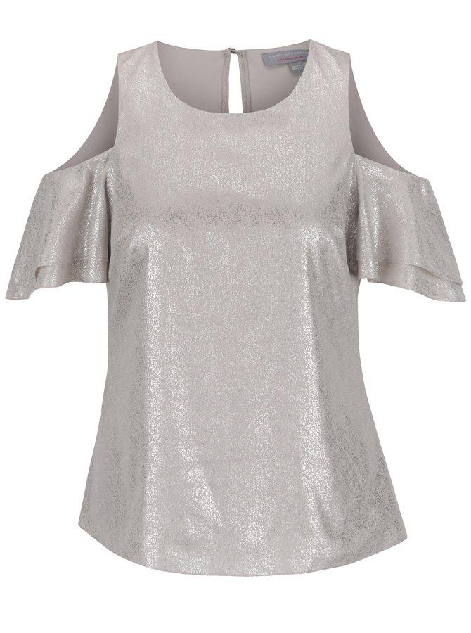 Bluză bej Dorothy Perkins Petite cu particule argintii