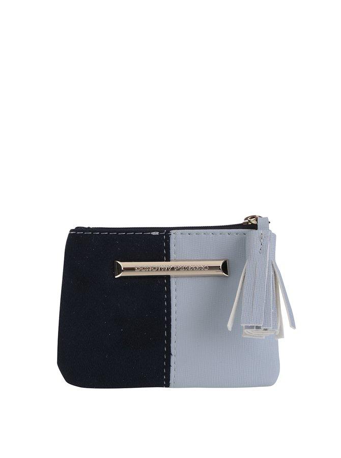 Modrá koženková menší peněženka Dorothy Perkins