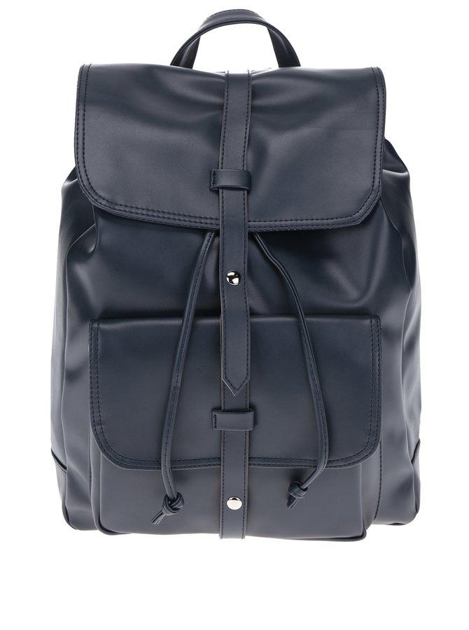 Tmavě modrý dámský batoh s pásky ZOOT