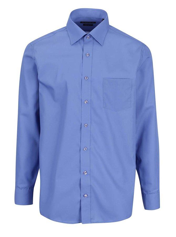 Modrá pánská modern fit košile STEVULA Royal