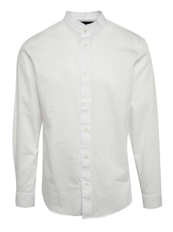 Bílá slim fit košile bez límečku Selected Homme One Mao