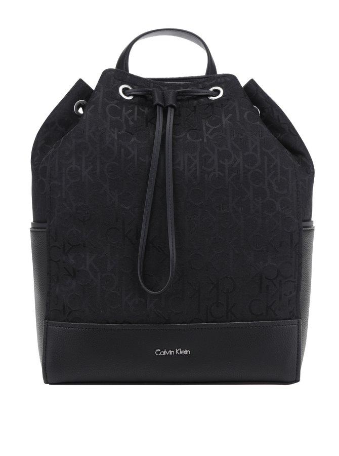 Černý dámský batoh se vzorem Calvin Klein Jeans