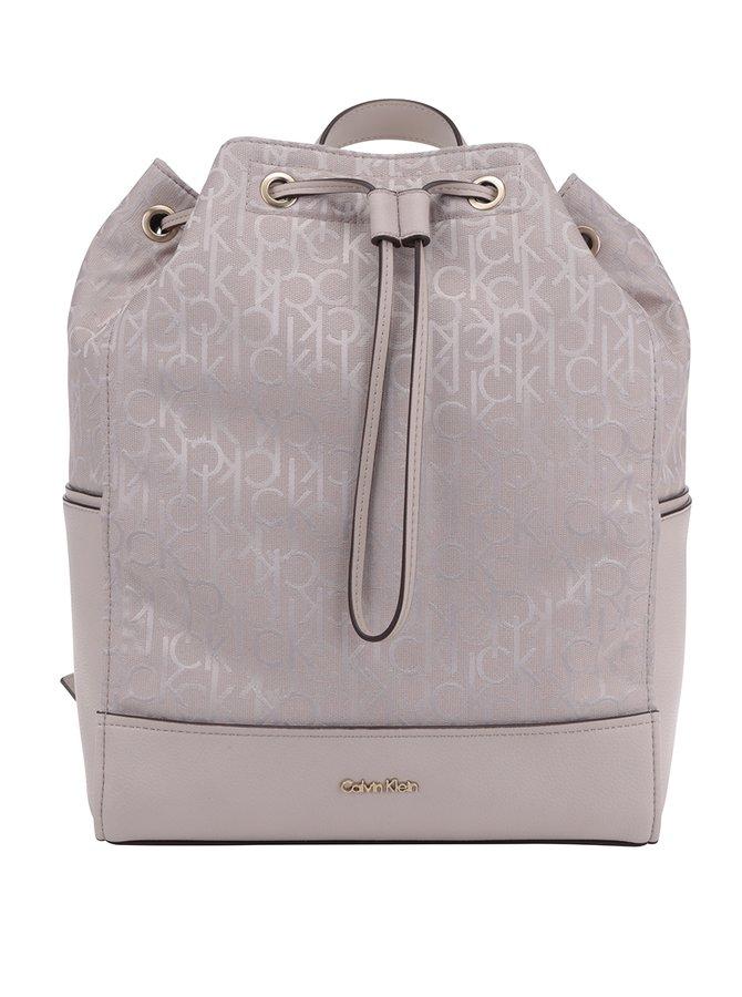 Starorůžový dámský batoh se vzorem Calvin Klein Jeans