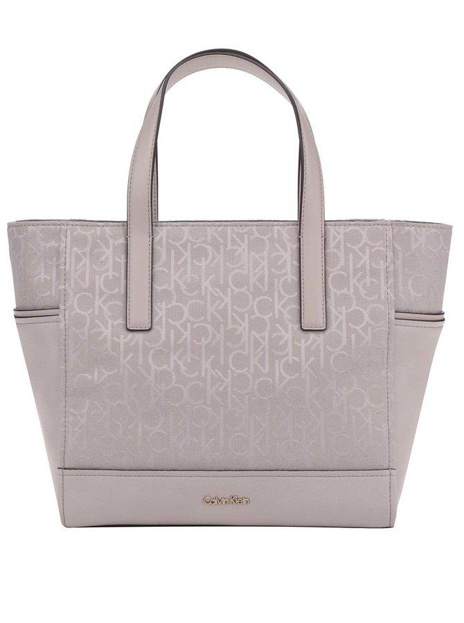 Béžová kabelka s jemným vzorem Calvin Klein Jeans