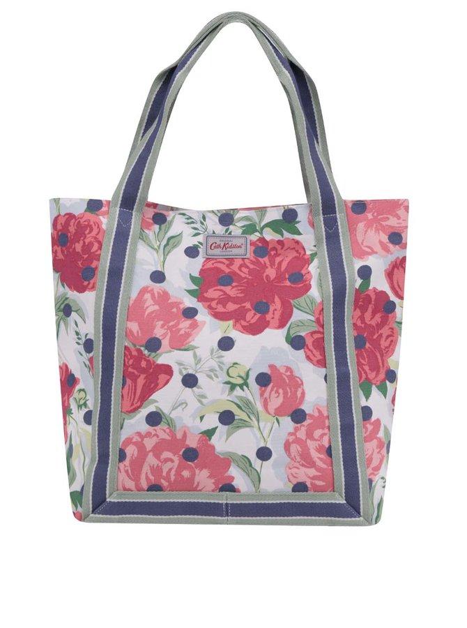 Zeleno-růžový květovaný shopper Cath Kidston