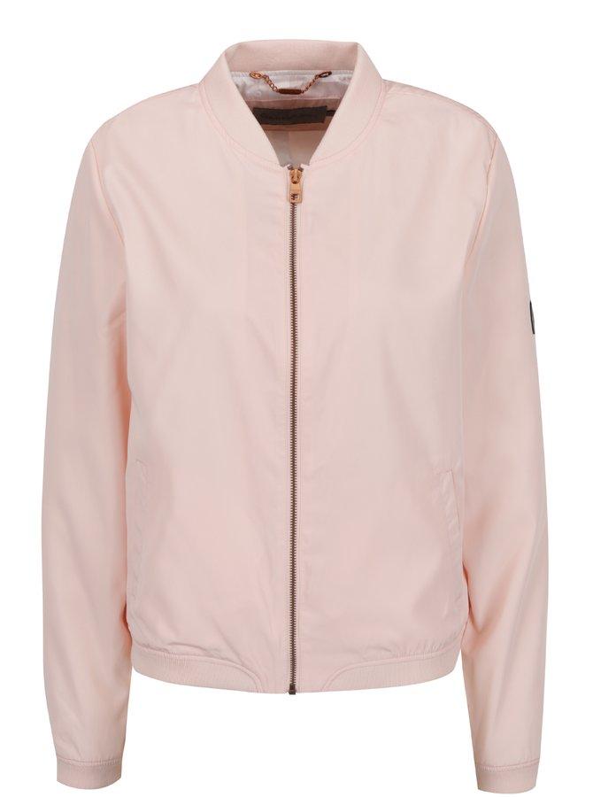 Světle růžový dámský bomber se zipem Calvin Klein Jeans Owra