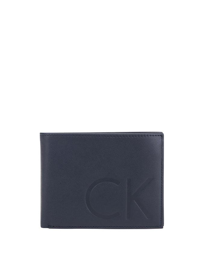 Tmavě modrá kožená peněženka Calvin Klein Jeans