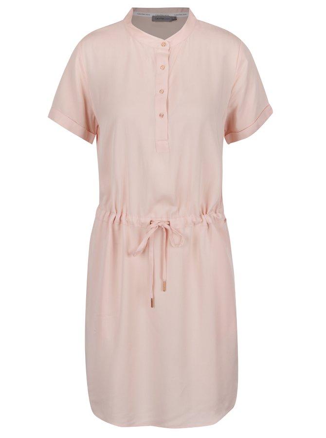 Světle růžové šaty Calvin Klein Jeans Dacey