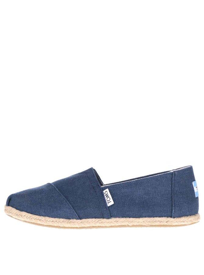 Tmavě modré dámské loafers TOMS