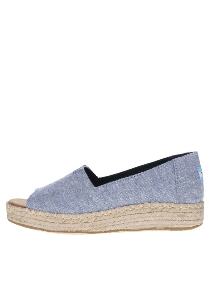 Modré dámské loafers s otevřenou špičkou TOMS