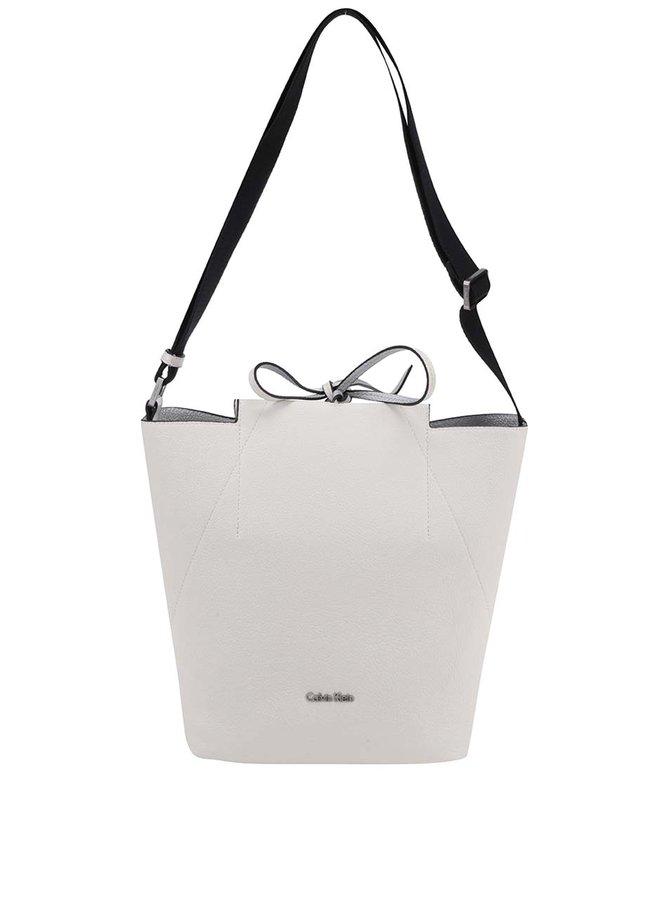 Krémová crossbody kabelka se zavazováním Calvin Klein Jeans