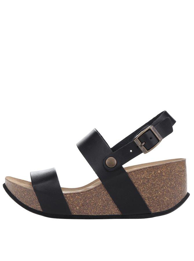 Sandale negre OJJU cu platformă