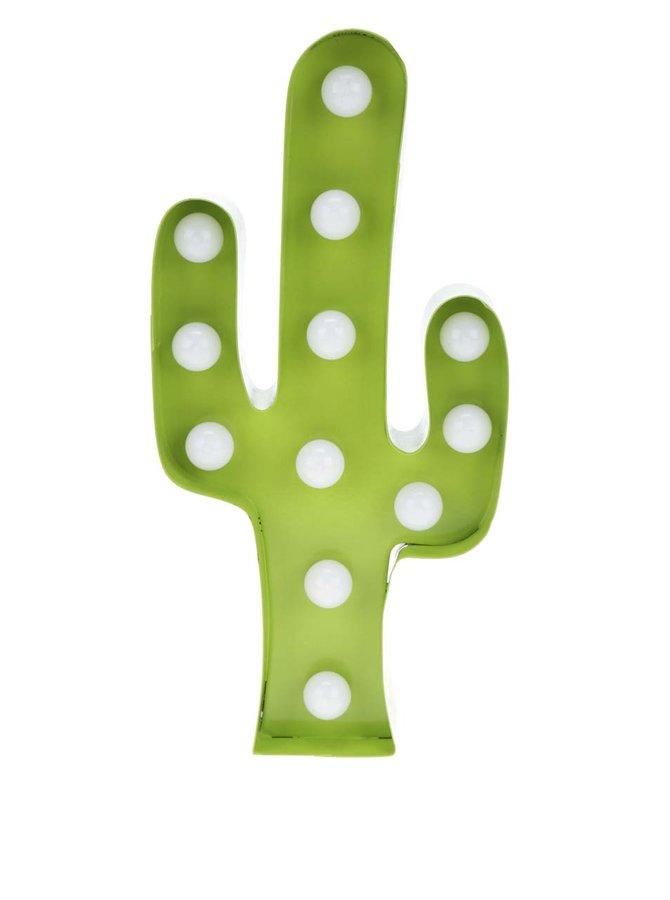 Zelená svítící dekorace ve tvaru kaktusu Sass & Belle