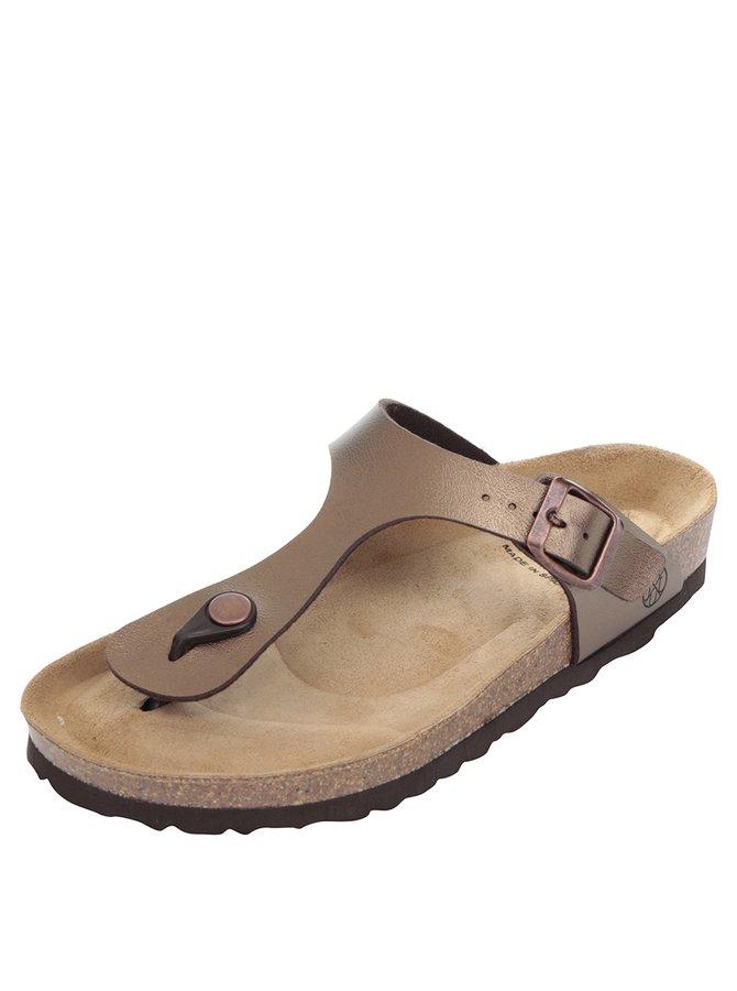 Papuci maro OJJU cu accesoriu metalic