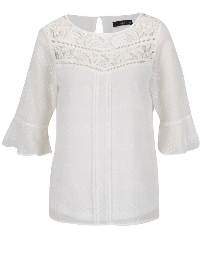 Bluză crem M&Co cu detalii din dantelă