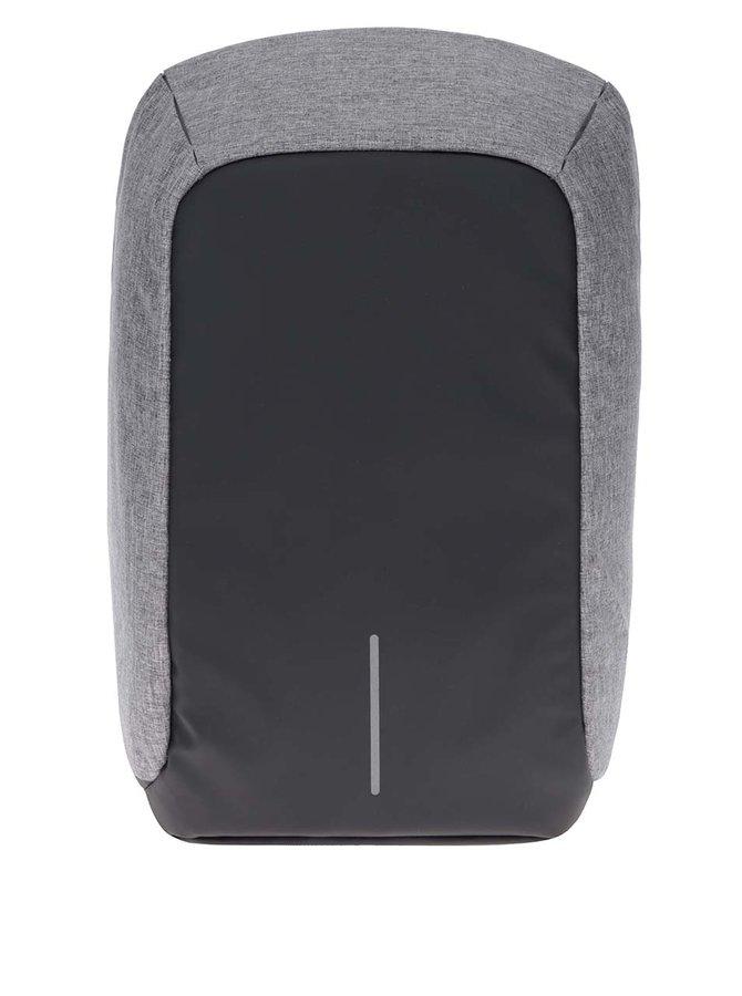 Šedo-černý nevykradnutelný velký unisex batoh XD Design Bobby