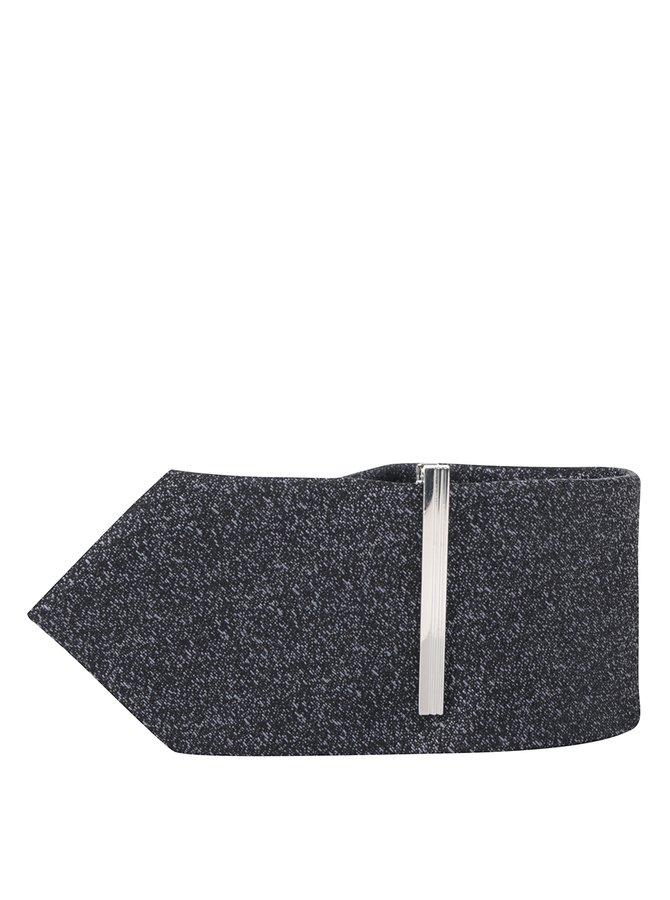 Tmavě šedá kravata se sponou Burton Menswear London