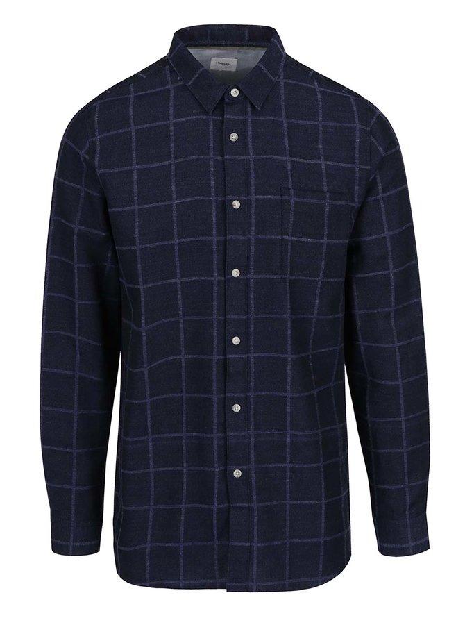 Cămașă albastru închis Burton Menswear London cu model în carouri
