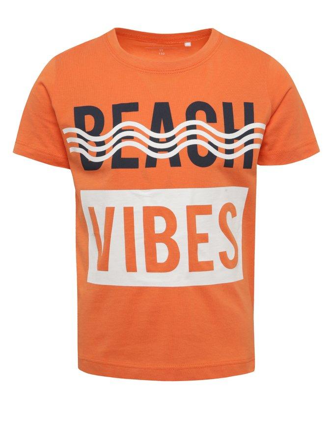 Oranžové klučičí tričko s potiskem name it Kurt