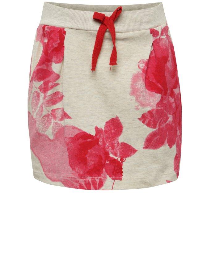 Růžovo-béžová holčičí květovaná sukně name it Lower