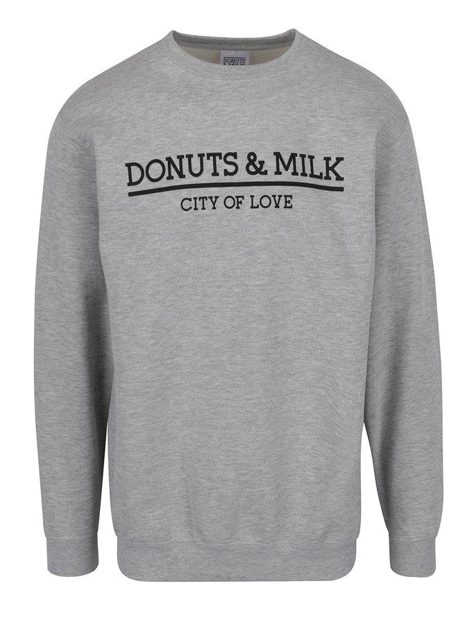 Bluză sport gri Donuts & Milk unisex