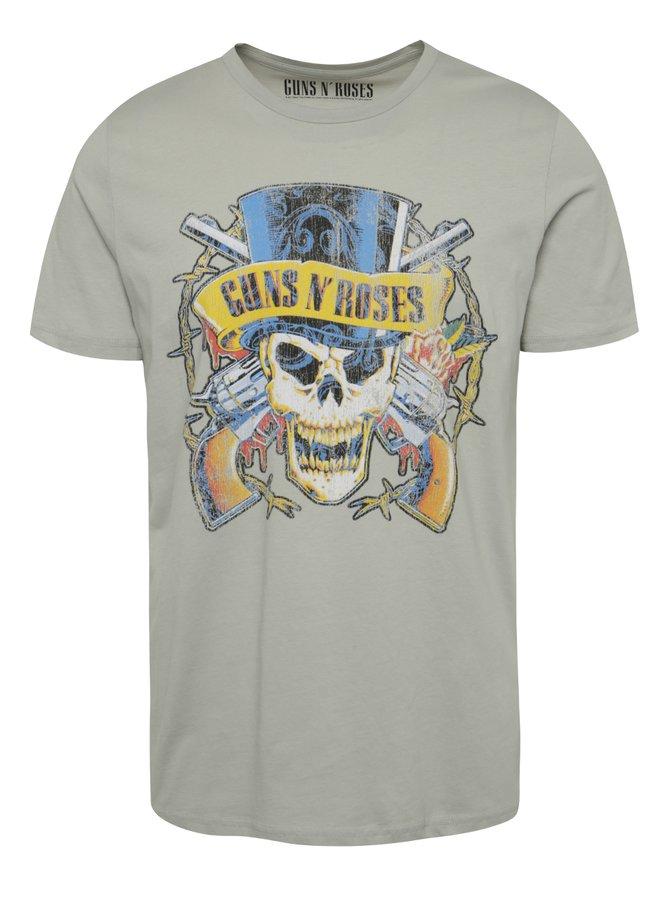Světle šedé triko s potiskem Guns N´Roses Jack & Jones Guns