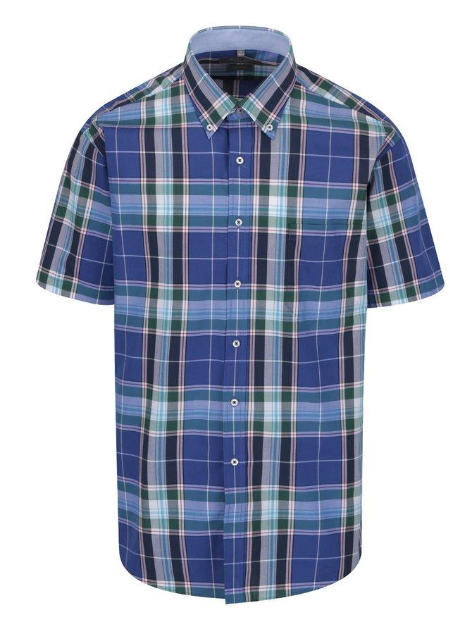 Modrá kostkovaná neformální košile Seven Seas Milan