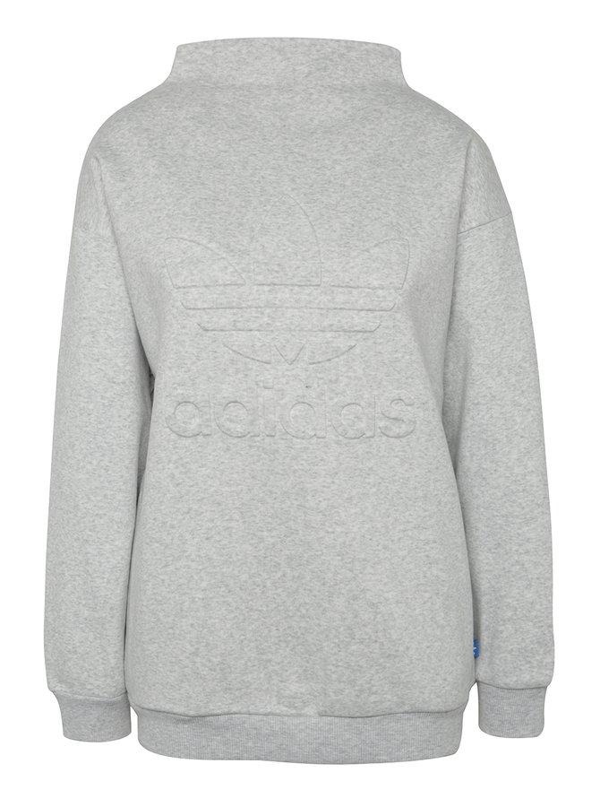 Bluză gri melanj cu logo adidas Originals