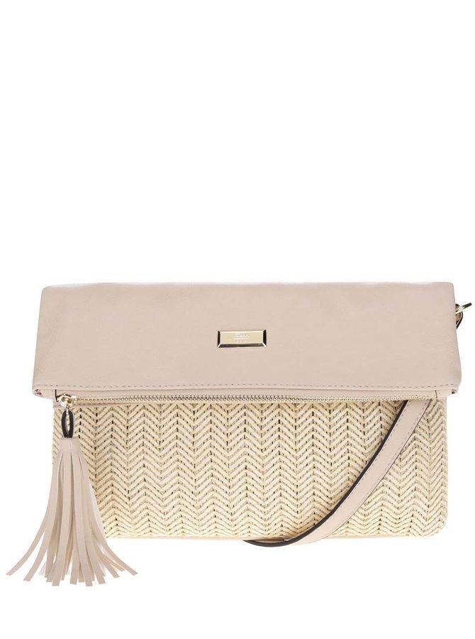 Béžová crossbody kabelka s detaily ve zlaté barvě Gionni Bella