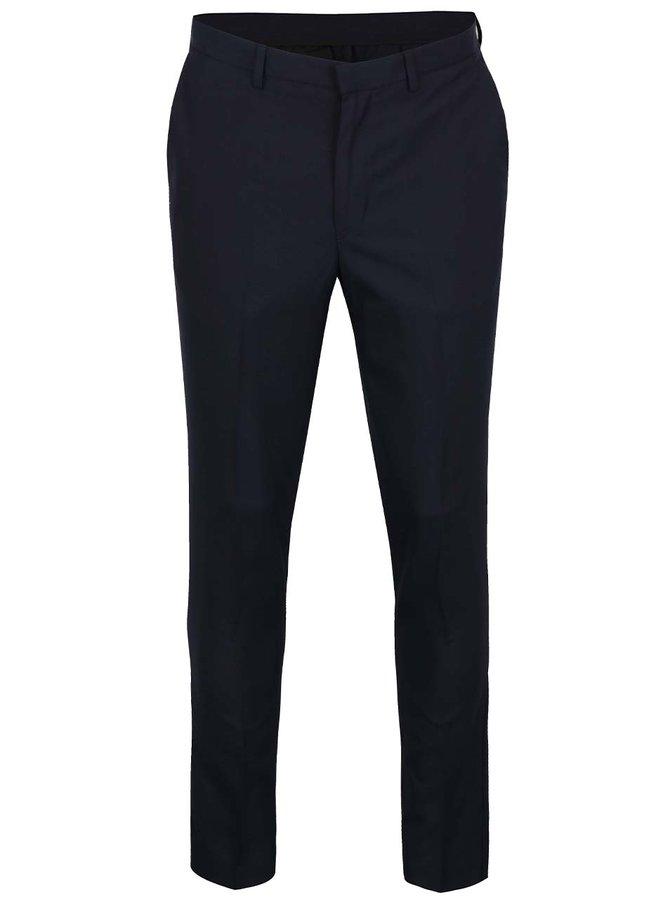 Tmavě modré formální slim fit kalhoty Burton Menswear London