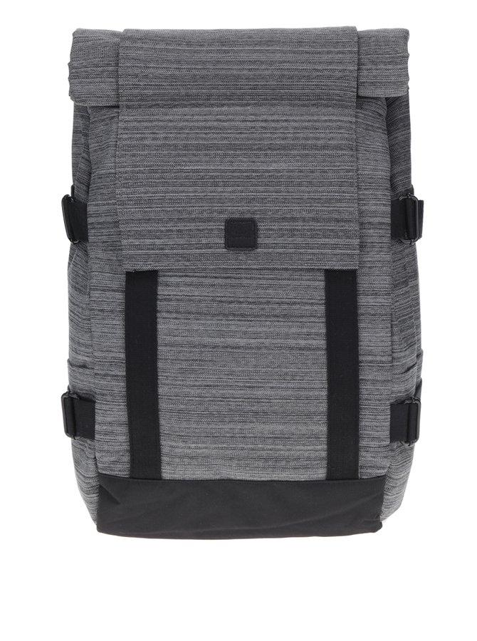 Černo-šedý žíhaný voděodolný unisex batoh Braxton Ucon