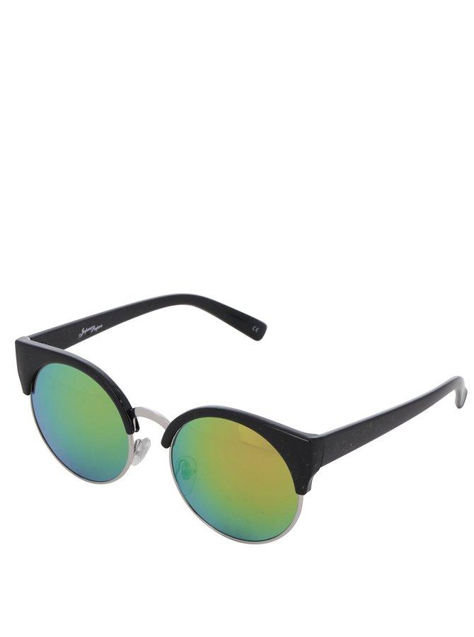 Ochelari de soare negri Jeepers Peepers cu lentile verzi în degrade