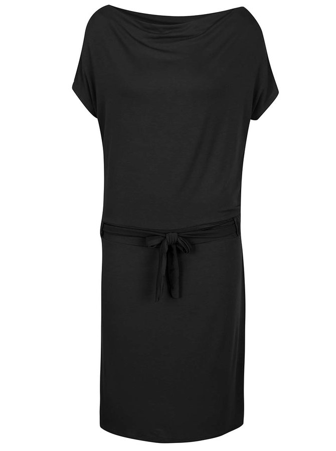 Rochie neagră ZOOT cu cordon în talie