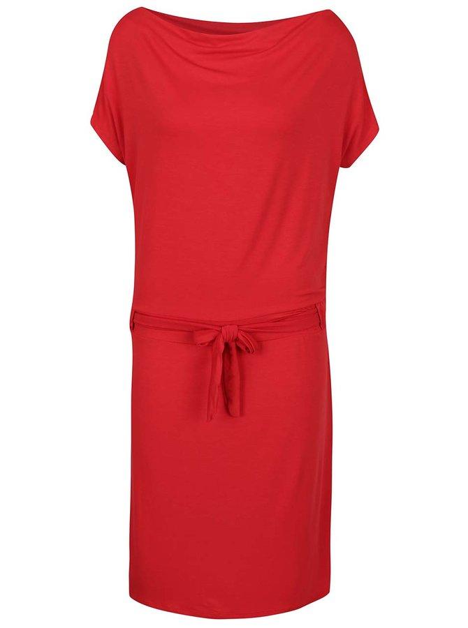 Červené šaty s lodičkovým výstřihem ZOOT