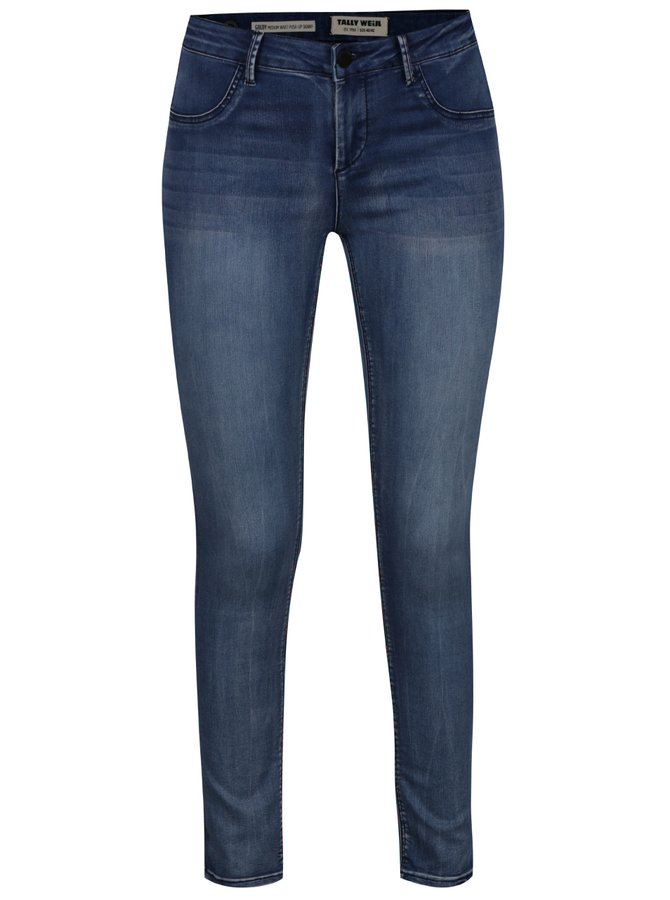 Světle modré push up skinny džíny s vyšisovaným efektem TALLY WEiJL