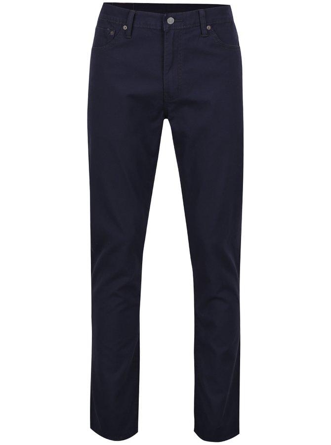 Tmavě modré slim pánské kalhoty s příměsí lnu Levi's® 511™