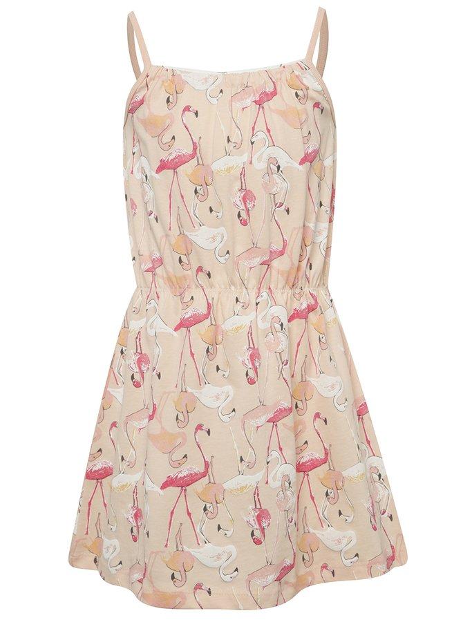 Růžové holčičí šaty s plameňáky name it Viggakira