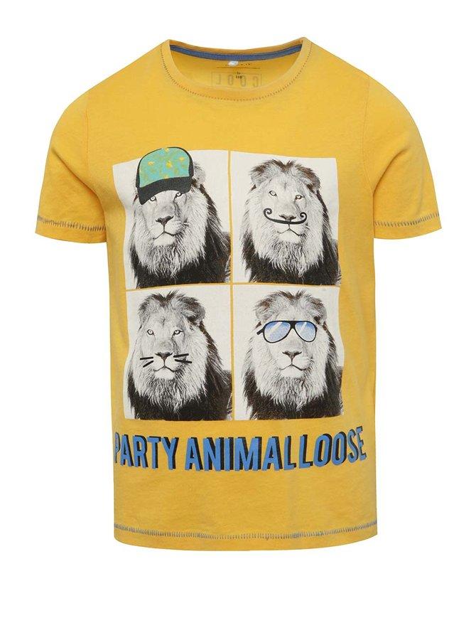 Tricou galben cu imprimeu name it Julius pentru băieți