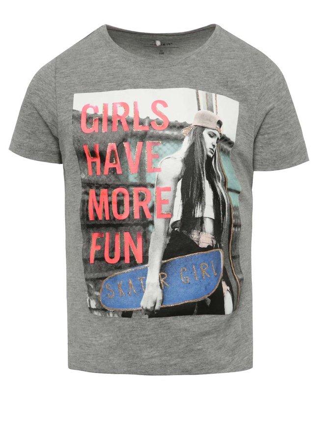 Tricou gri cu imprimeu name it Jip pentru băieți