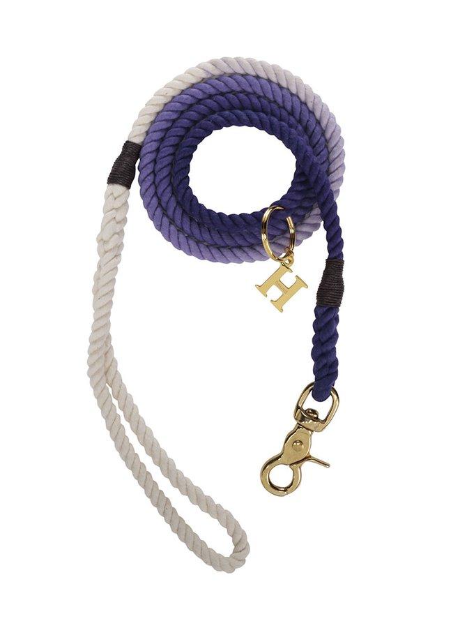 Bílo-fialové vodítko pro malé psy Hound 8 mm