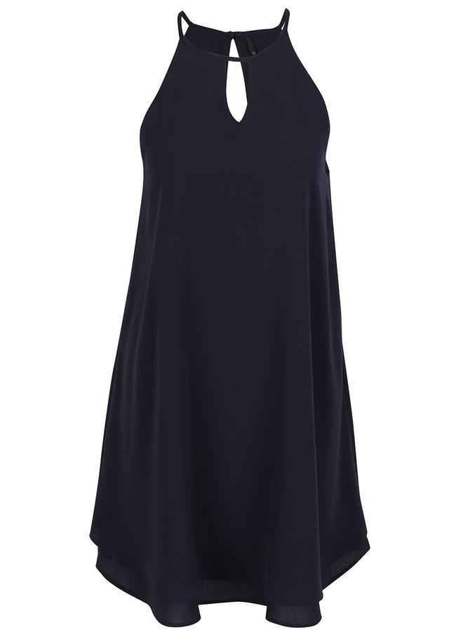 Tmavě modré volné šaty ONLY Mariana