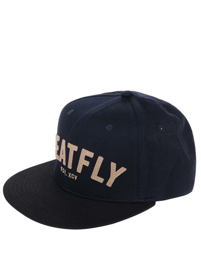 Șapcă albastru închis MEATFLY District 17 din bumbac cu broderie pentru bărbați